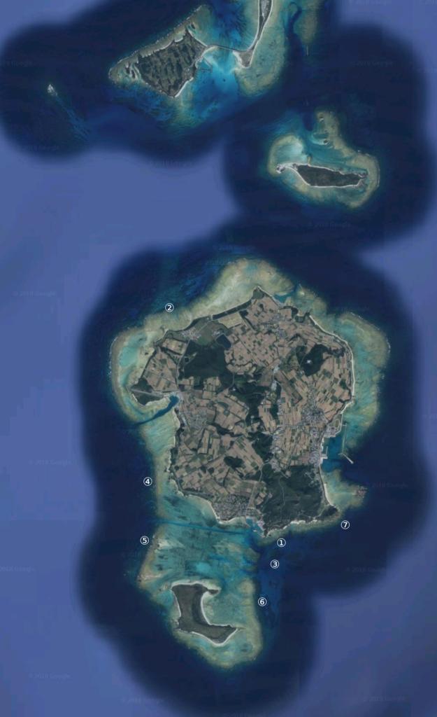 ダイビング,ポイント,マップ,伊是名,沖縄