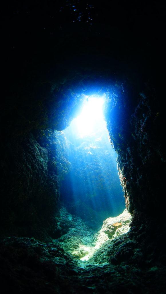 ダイビング,洞窟,地形,伊是名,沖縄