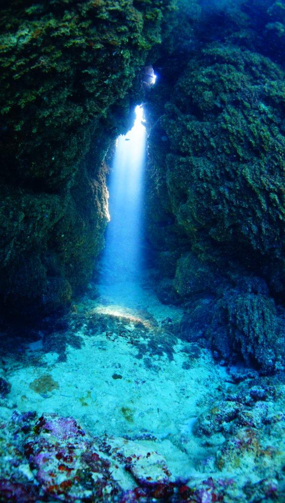 洞窟,伊是名,ダイビング