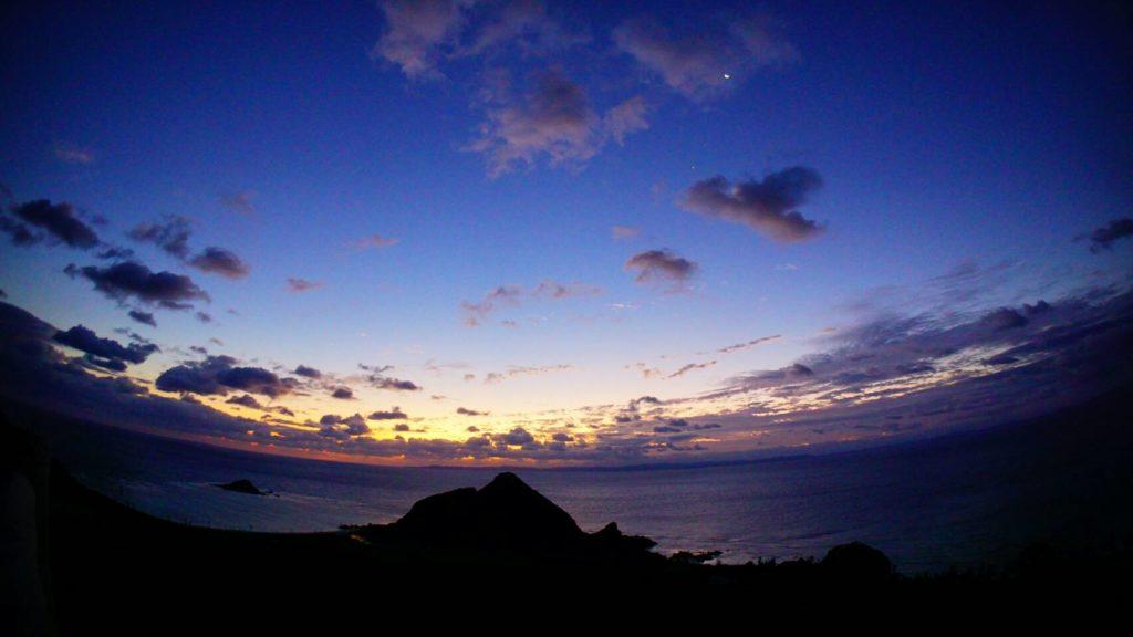 伊是名,島,初日の出,沖縄,グイン