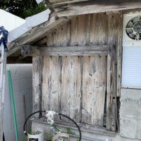 伊是名の古民家の古い外壁