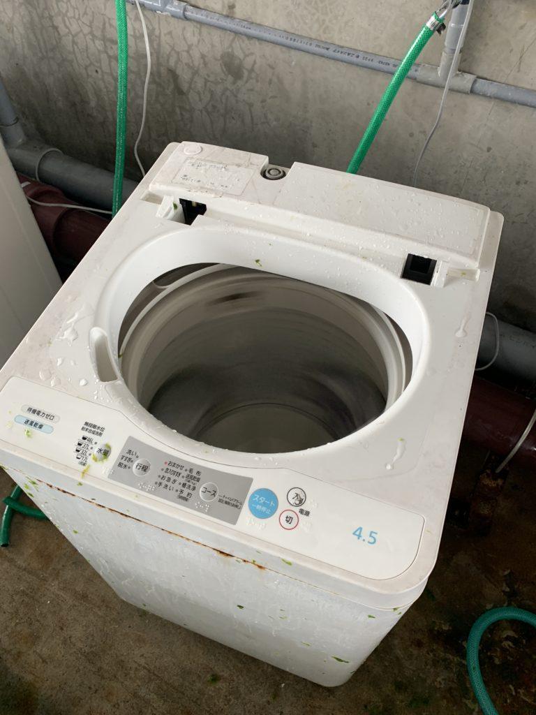 アーサの脱水に使う洗濯機