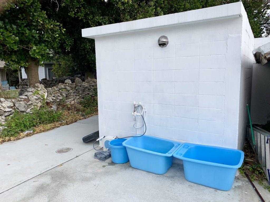 グインの器材洗い場