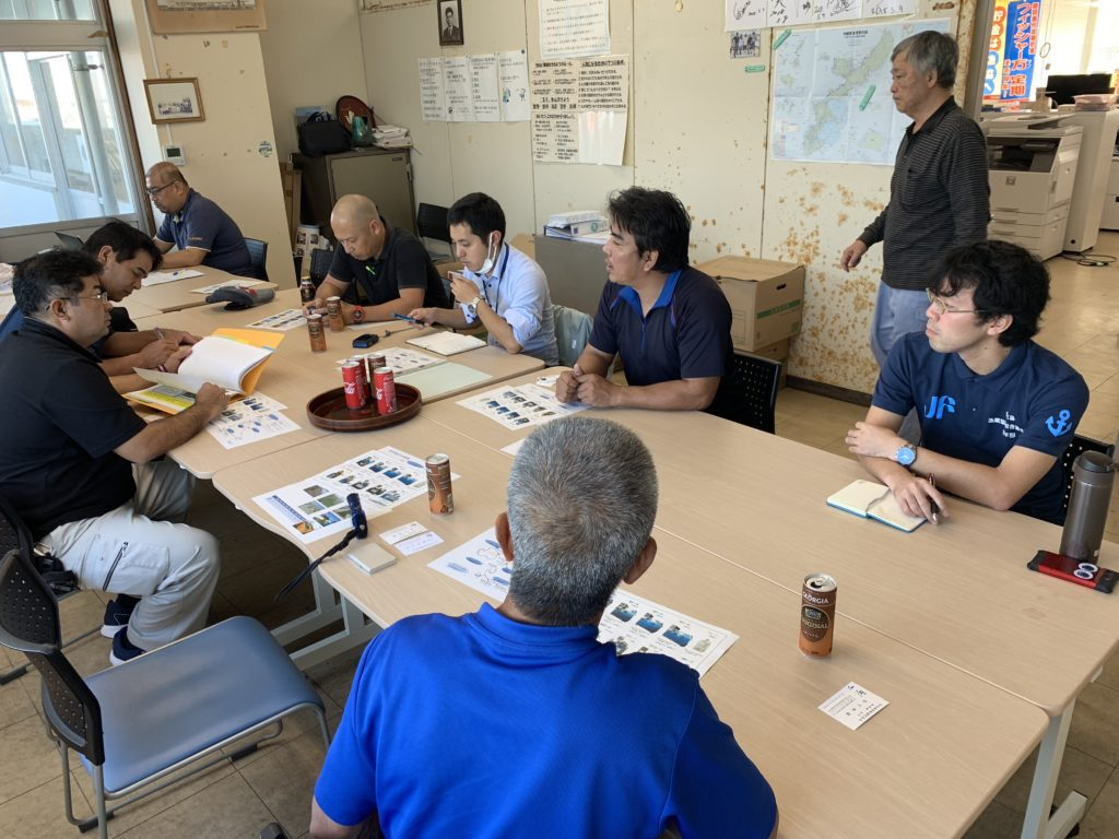 宮古島漁協で会議