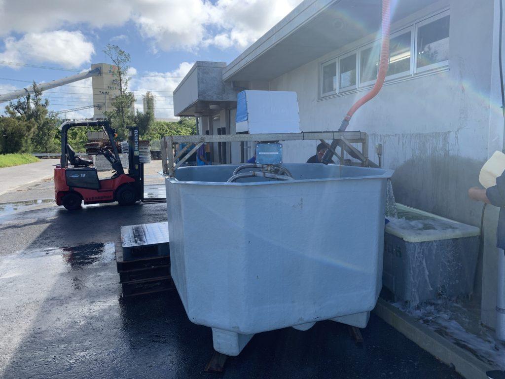アーサの洗浄タンク